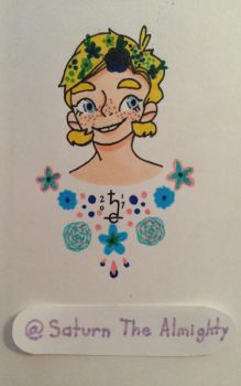 Tiny Blonde child w/ flowers by SaturnTheAlmighty