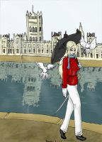 Sir Catherine by the Thames by Kittywitchthesecond