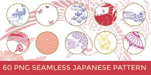 60 PNG Seamless Japanese Patterns: Pack 1 by o-yome