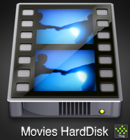 MoviesHarddisk icon by Thvg