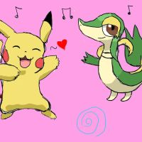 Snivy and Pikachu dancing the Macarena! by Coyla283