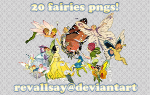 20 faries PNGs by revallsay