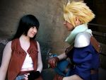 Tifa and Cloud~ by SerinuCeli