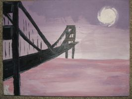 Golden Gate in the Moonlight by The-Jessalow