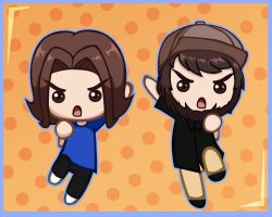 Game Grumps: Egoraptor and Jontron by chaopudding7453