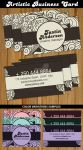 Artistic Business Card Template by Hotpindesigns