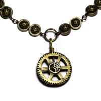 Steampunk Jewelry NeckGear by CatherinetteRings