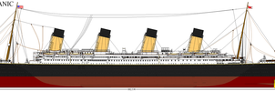 RMS Titanic 'Port Side' by Crystal-Eclair
