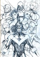 Titans Sketch by guinnessyde
