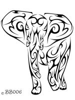 Tribal Elephant Commission by blackbutterfly006