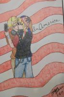 America and Bandit Keith by CelloManLove