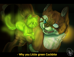 .:Remake:..:Why you little Green Cockbite:. by West-Kitsune
