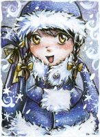 Angelica the Snowgirl ACEO  by AngieVX