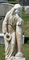 Mount Olivet Cemetery Woman 171 by Falln-Stock