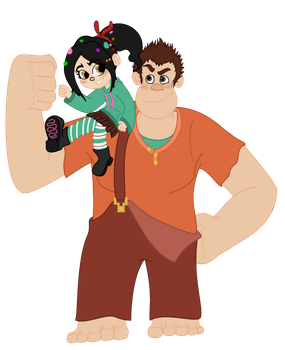 Ralph and Vanellope by ruttitutti