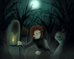 Knock-Knock: Fleeing in the Woods by Acyrotin