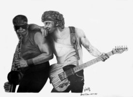 Bruce Springsteen 1985 by kevindoyleart