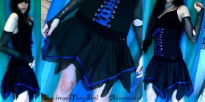 blue-trimmed fairy skirt by mariedark