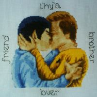 Friend Brother Lover X Stitch by black-lupin