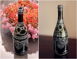 Hand-painted bottle VI by purpleniya