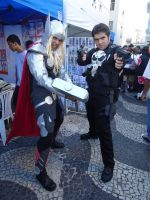Thor and my Punisher Cosplay by Cris-Nemesis