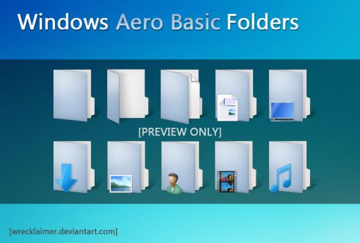 Aero Basic Folders preview by Wrecklaimer