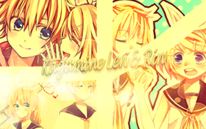 Kagamine Len and Rin by nibbpower