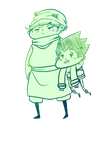 Itty-bitty Ging and Gon by SirDonutMuffin