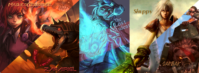 Team LoL Facebook Banner Concept 1 by YesMyLadyLoL