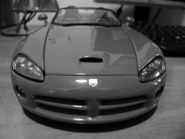 dodge viper black and white scale 1 18 by EnriqueGomez