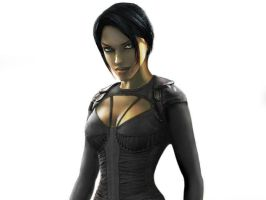 Lara Croft as AEON FLUX by Larden