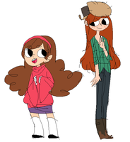 wendy n mabel by konzatsu