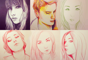 Buncha Portraits by Momo-Deary