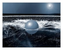 ball in the water at night- mandelbulber 2 by sonafoitova