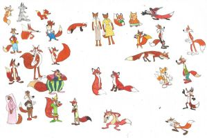 35th anniversary of The Fox and the Hound by brazilianferalcat