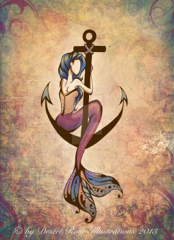 Mermaid Anchor by DreadPirateBri