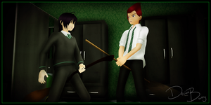 BROOMSTICK FIGHTING by BennyBrutt