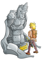 COLOURED! The Royal Statue by Gnarlee