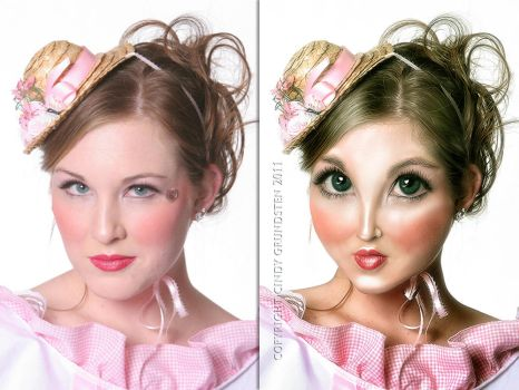 Weird Woman before and after by CindysArt