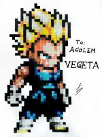 DERPixel ''Art'' - Vegeta - Dragon Ball Z by EckoSlime