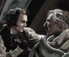 Sweeney Todd and Juge Turpin by FlyingRotten