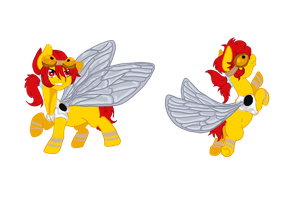 Custom insect pony for Mechafone by Sarahostervig