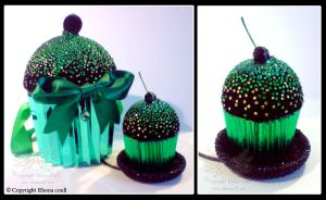 Hat and Bag-  Green Cupcake by megoboom