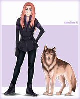 Wolf's rain OC reference by AkinaSilver