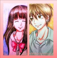 ShoutaXSawako coloring pencil by AkiKei29