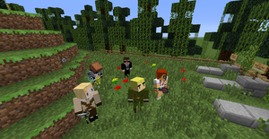 Minecraft hetalia RP: Visiting the graveyard. by luxchii