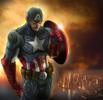 THE FIRST AVENGER by rocketraygun