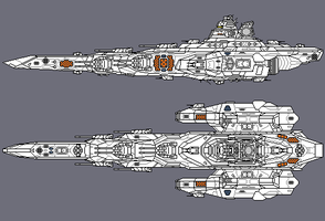 Pixel Space Battleship WIP by PrinzEugn
