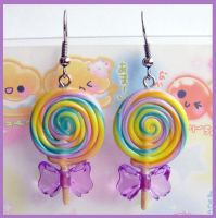 Lollipop Earrings 2 by cherryboop