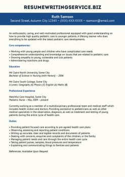 resume writing 1 0 pediatric nurse resume sample by resume writing